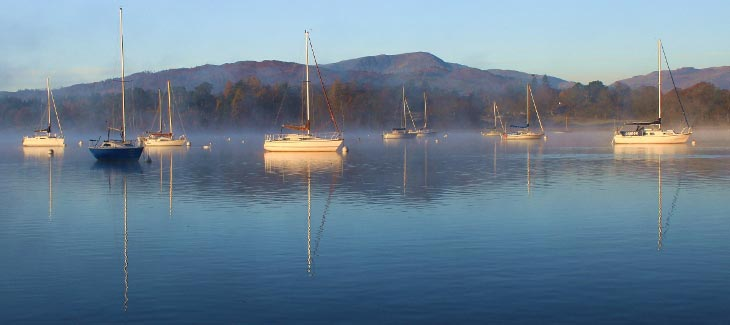 Boats at Waterhead, Windermere
