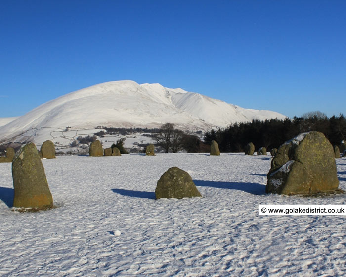 Blencathra from Castlerigg Stone Circle, Lake District