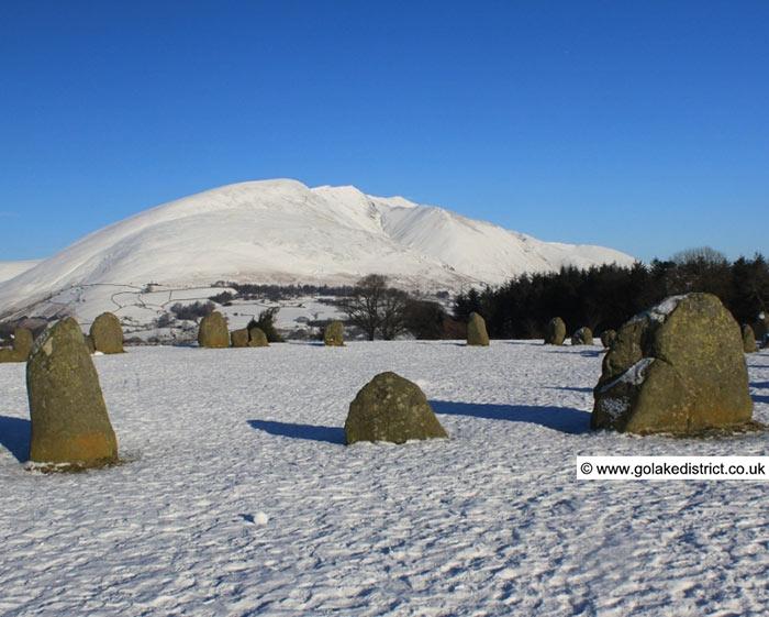 Blencathra from Castlerigg Stone Circle, Lake District