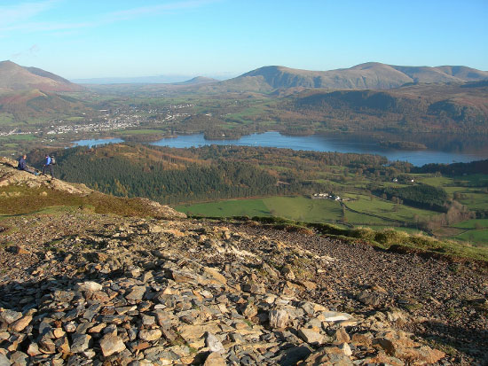 View of Derwentwater and Keswick from Barrow