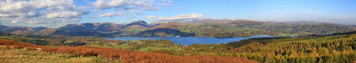 View of Lake Windermere from Latterbarrow