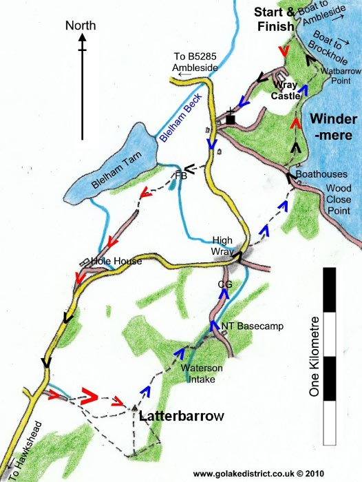 Latterbarrow map