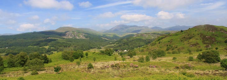 Mountain scenery from Muncaster Fell, Lake District