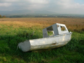 Old boat at Ravenglass, Lake District
