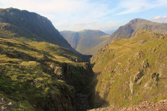 Piers Gill on the descent from Scafell Pike, Lake District