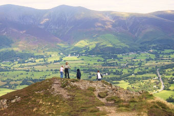 Descending with Skiddaw in view