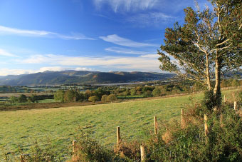 View towards Bassenthwaite Lake and surrounding fells