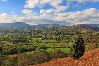 View on the ascent of Latterbarrow, Lake District