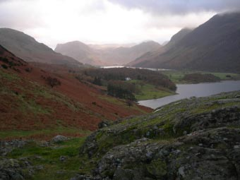 View towards Buttermere from Rannerdale Knotts