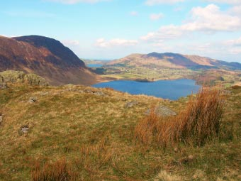 View towards Loweswater from Rannerdale Knotts