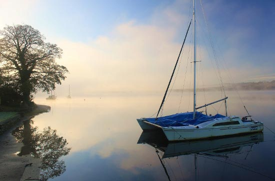 Misty morning at Waterhead, Ambleside