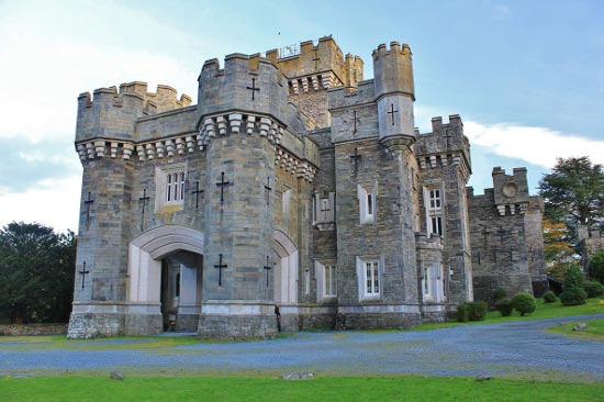 Wray Castle, close to the western shore of Lake Windermere