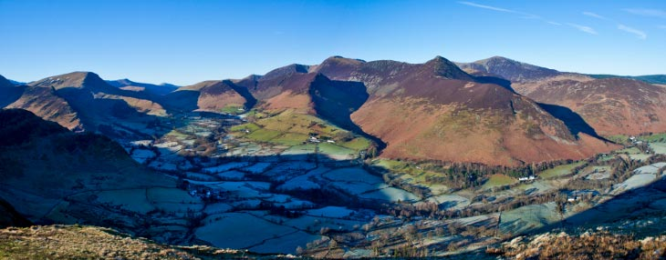 Amazing Lake District View - Catbells and Dale head horseshoe