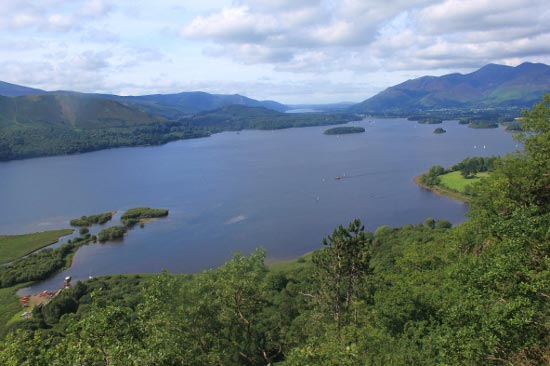 Derwentwater from Surprise View, Borrowdale, Lake District