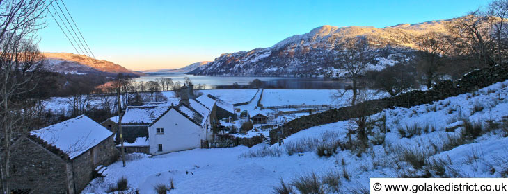 Glencoyne Farm and beyond it, Ullswater