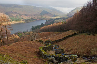 Looking down Cragsteads Gill to Thirlmere