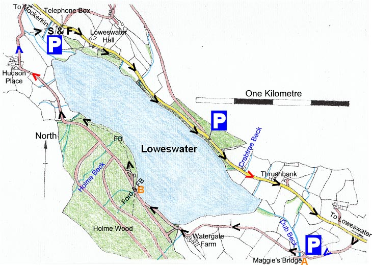 Map of Loweswater, Western Lake District