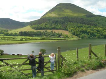 Enjoying the scenery at Loweswater, Lake District