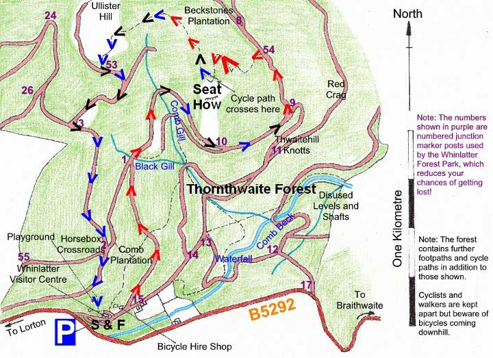 Seat How at Whinlatter Forest map