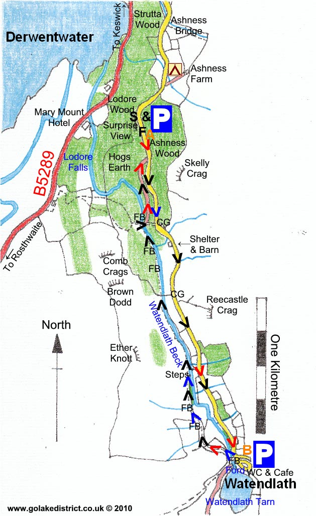 Map of Watendlath from Surprise View